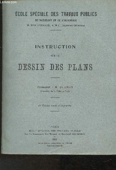 Instruction sur le dessins des plans (Collection de l