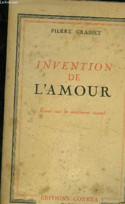 L'invention de l'amour