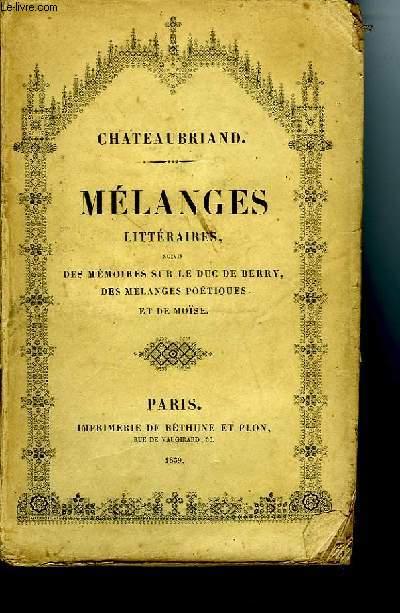 MELANGES LITTERAIRES