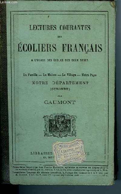 LECTURES COURANTES DES ECOLIERS FRANCAIS