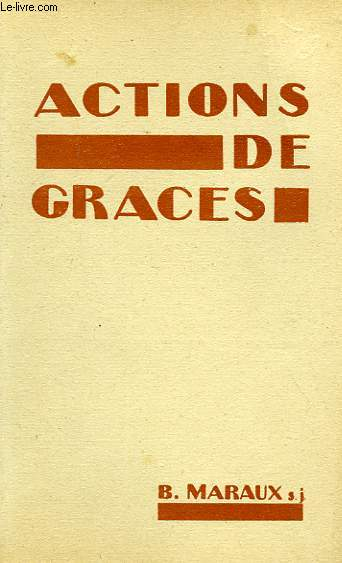 ACTIONS DE GRACES