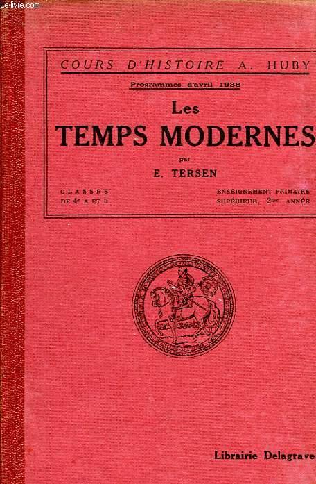 LES TEMPS MODERNES, CLASSES DE 4e A ET B, EPS, 2e ANNEE