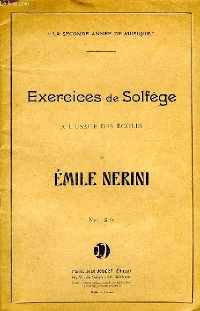 EXERCICES DE SOLFEGE A L'USAGE DES ECOLES