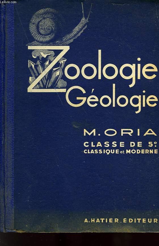 SCIENCES NATURELLES, ZOOLOGIE, GEOLOGIE, CLASSE DE 5e