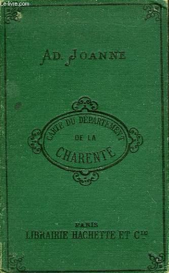 CARTE DU DEPARTEMENT DE LA CHARENTE
