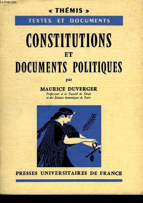 CONSTITUTIONS ET DOCUMENTS POLITIQUES