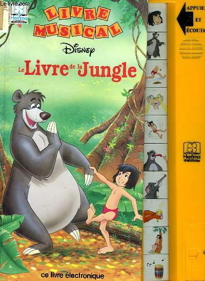 Livre Musical Disney Le Livre De La Jungle