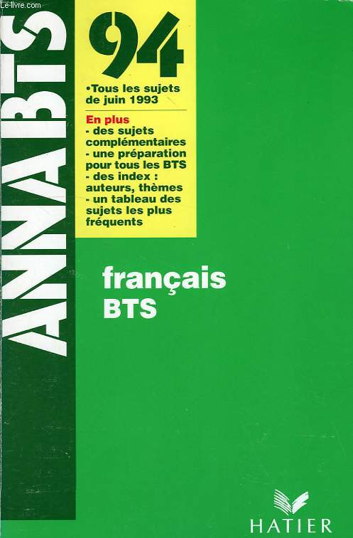 Annabts 94 Francais Bts