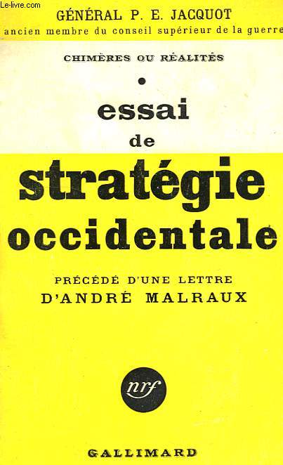 ESSAI DE STRATEGIE OCCIDENTALE