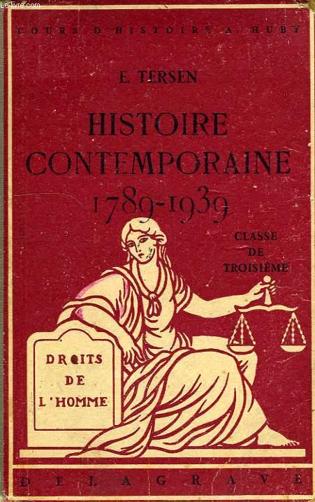 HISTOIRE CONTEMPORAINE APRES 1789, CLASSE DE 3e