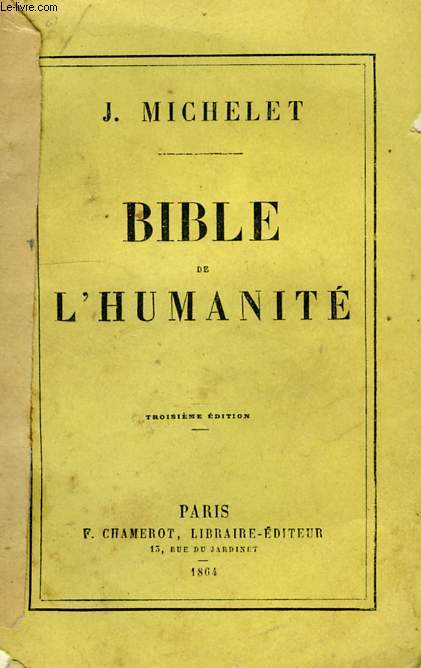 BIBLE DE L'HUMANITE