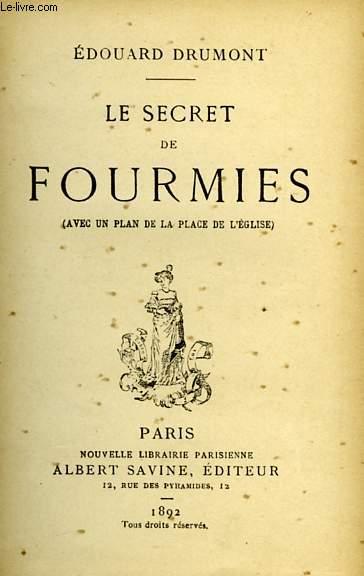 LE SECRET DES FOURMIES