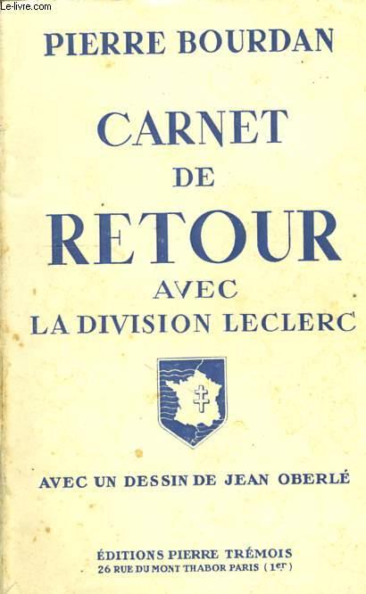 CARNET DE RETOUR, AVEC LA DIVISION LECLERC