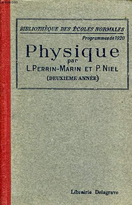 COURS DE PHYSIQUE, 2e ANNEE