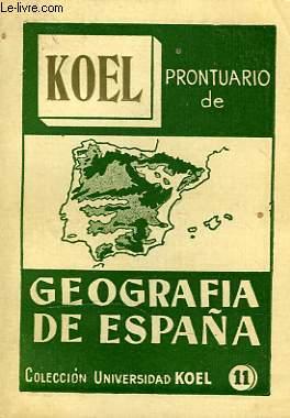 PRONTUARIO DE GEOGRAFIA DE ESPAÑA
