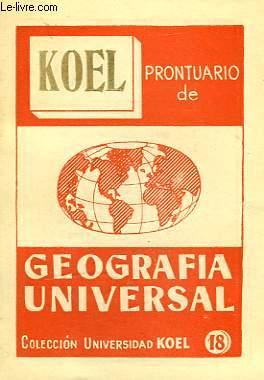 PRONTUARIO DE GEOGRAFIA UNIVERSAL