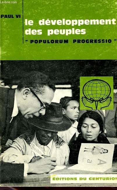 LE DEVELOPPEMENT DES PEUPLES, 'POPULUM PROGRESSIO', ENCYCLIQUE DU 26 MARS 1967