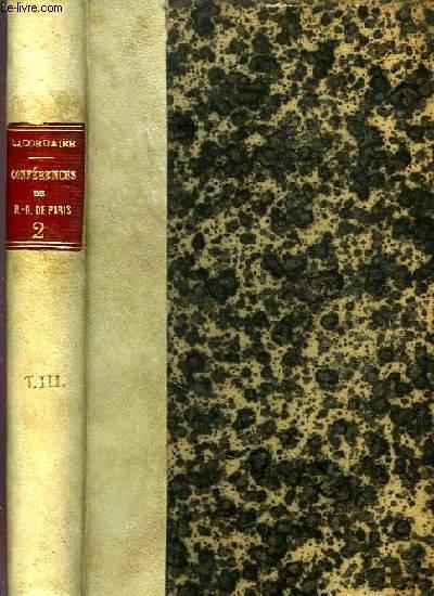 CONFERENCES DE NOTRE-DAME DE PARIS, TOME II, ANNEES 1844-1845