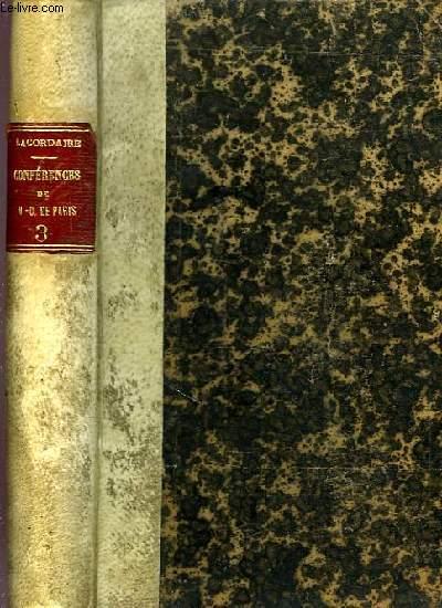 CONFERENCES DE NOTRE-DAME DE PARIS, TOME III, ANNEES 1846-1848