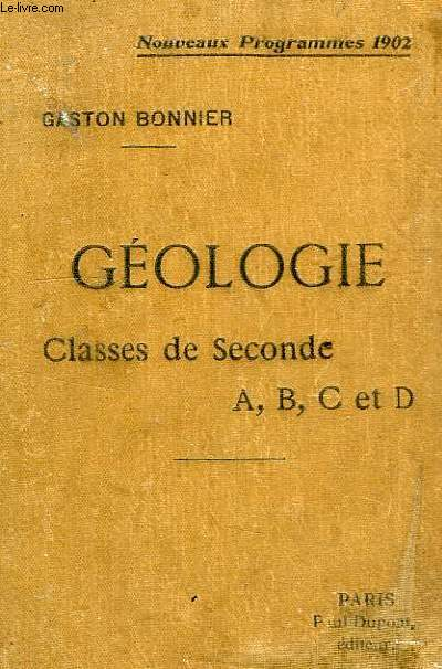 CONFERENCES DE GEOLOGIE, CLASSES DE 2de A, B, C, D
