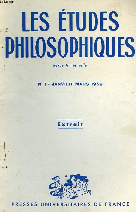 LES ETUDES PHILOSOPHIQUES, N° 1, JAN.-MARS 1959, EXTRAIT, MORALE ET LIBERTE