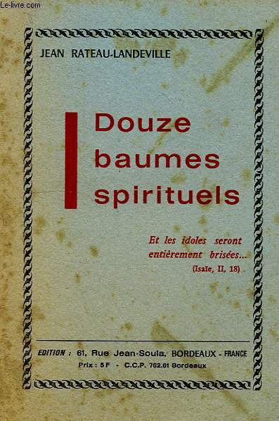 DOUZE BAUMES SPIRITUELS