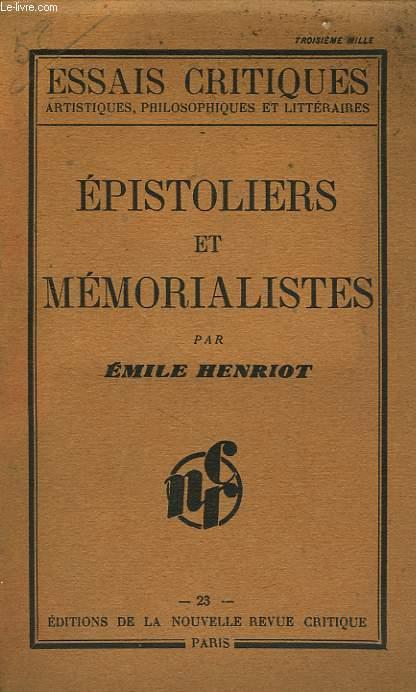 EPISTOLIERS ET MEMORIALISTES