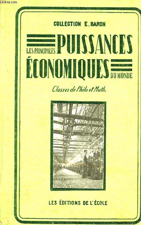 PRINCIPALES PUISSANCES ECONOMIQUES DU MONDE, CLASSES DE PHILOSOPHIE, DE MATHEMATIQUES ET DE SCIENCES EXPERIMENTALES