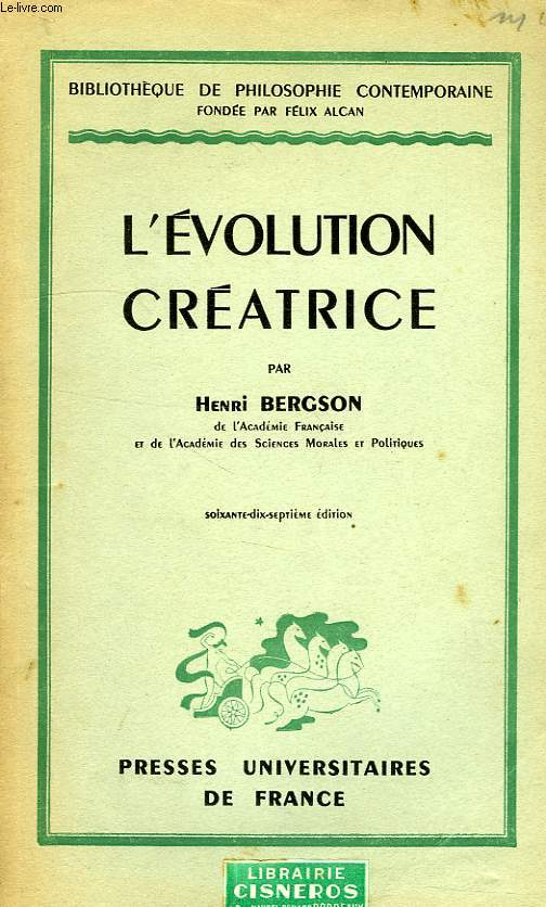 L'EVOLUTION CREATRICE