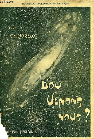 D'OU VENONS-NOUS ?