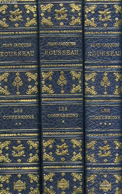 LES CONFESSIONS, TOMES I, II, III (COMPLET)