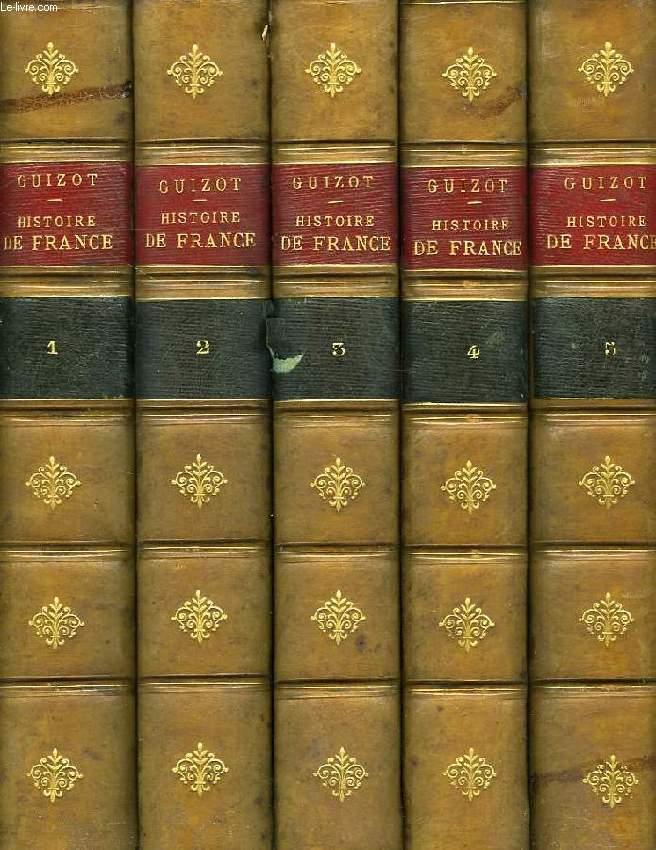 L'HISTOIRE DE FRANCE DEPUIS LES TEMPS LES PLUS RECULES JUSQU'EN 1789, RACONTEE A MES PETITS ENFANTS, 5 TOMES