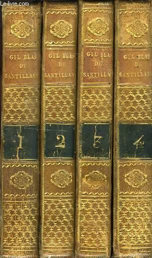 HISTOIRE DE GIL BLAS DE SANTILLANE, 4 TOMES