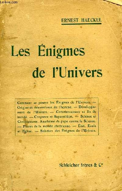 LES ENIGMES DE L'UNIVERS