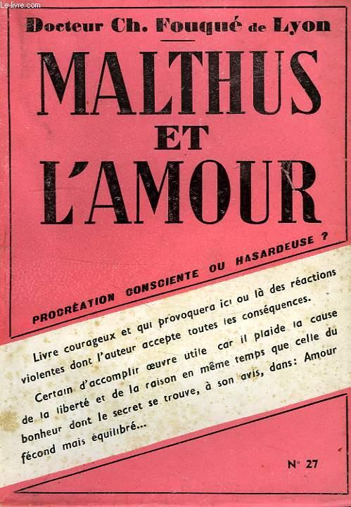 MALTHUS ET L'AMOUR