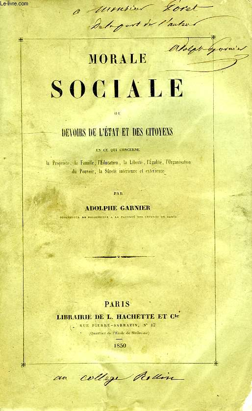 MORALE SOCIALE OU DEVOIRS DE L'ETAT ET DES CITOYENS