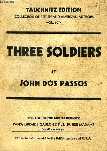 THREE SOLDIERS (VOL. 5074)