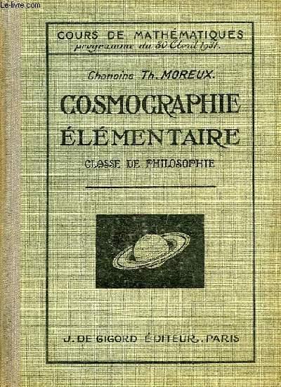 COSMOGRAPHIE ELEMENTAIRE, CLASSE DE PHILOSOPHIE