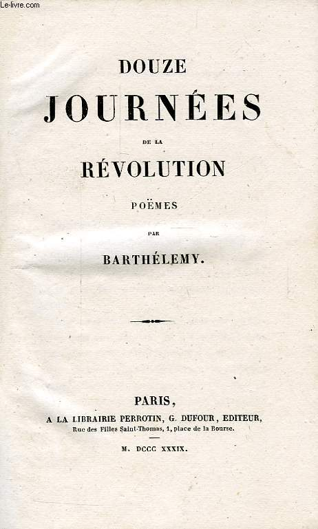 DOUZE JOURNEES DE LA REVOLUTION, POEMES
