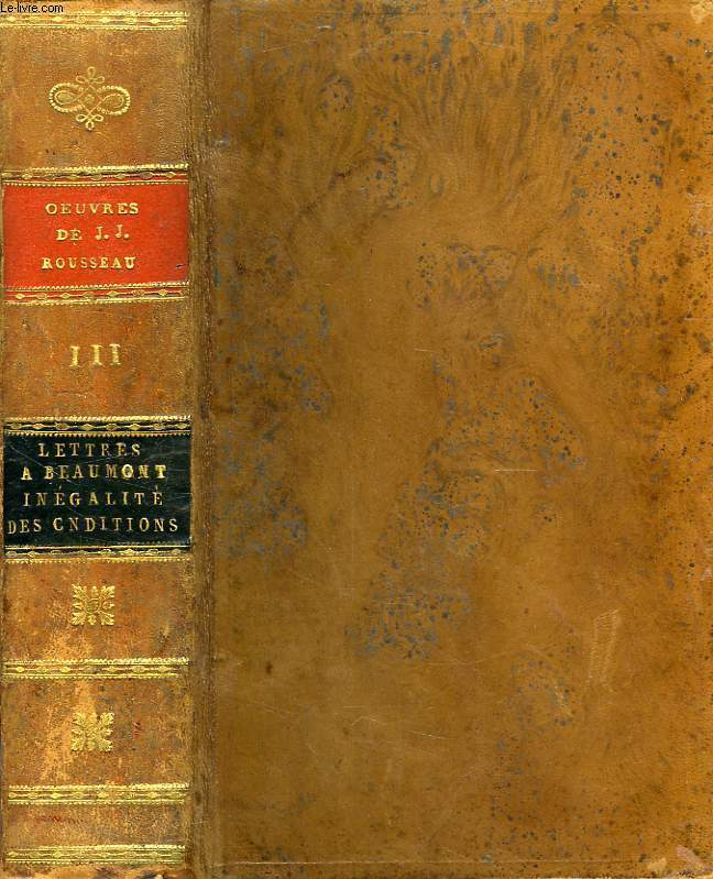 OEUVRES DE J. J. ROUSSEAU, CITOYEN DE GENEVE, TOME III