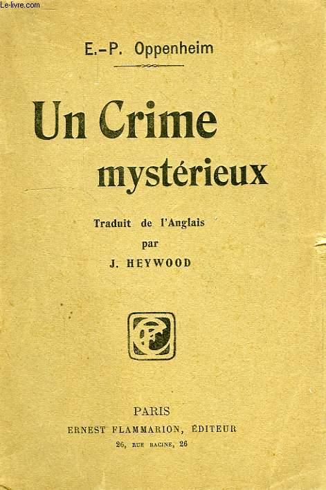 UN CRIME MYSTERIEUX