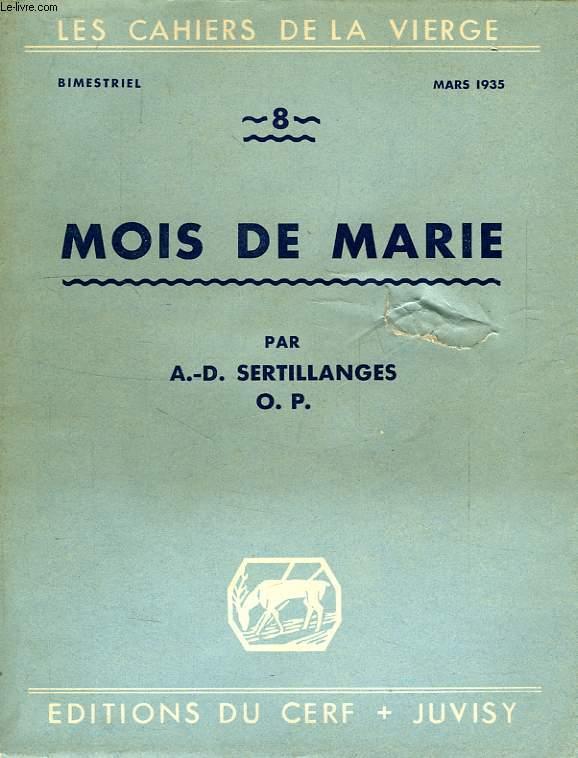 LES CAHIERS DE LA VIERGE, N° 8, MOIS DE MARIE
