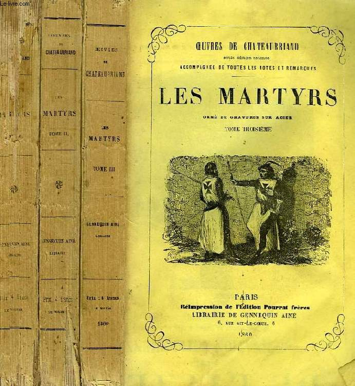 LES MARTYRS, 3 TOMES (COMPLET)