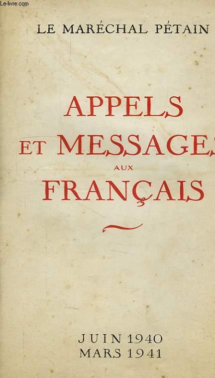 APPELS ET MESSAGES AUX FRANCAIS