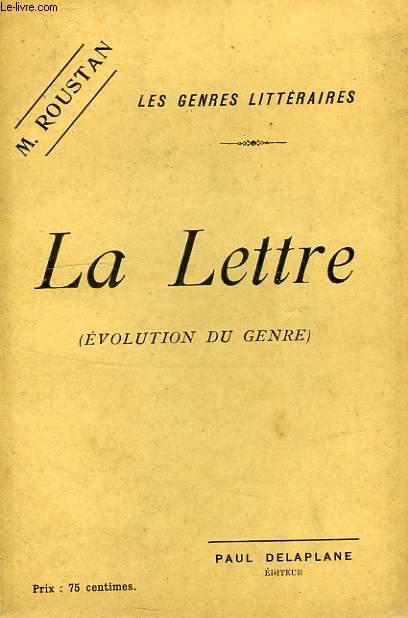 LA LETTRE (EVOLUTION DU GENRE)