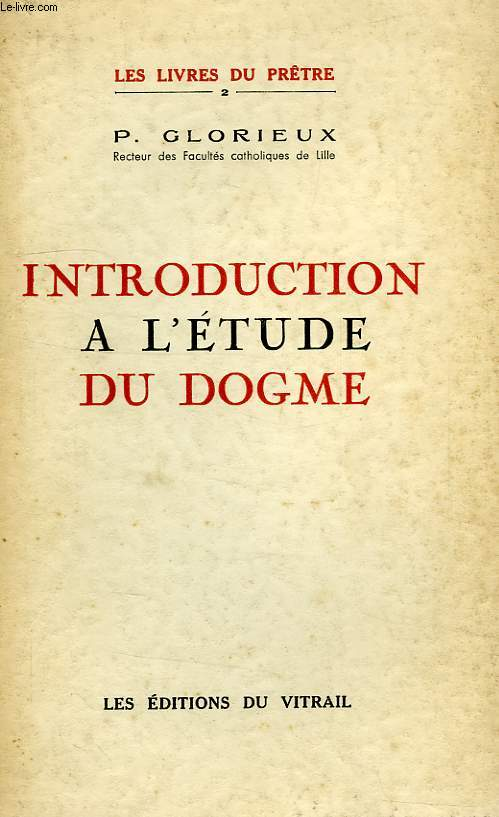 INTRODUCTION A L'ETUDE DU DOGME