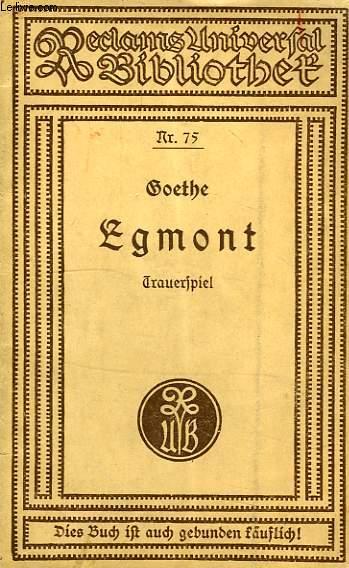 EGMONT, TRAUERSPIEL