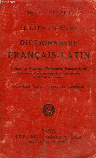 LE LATIN EN POCHE, DICTIONNAIRE FRANCAIS-LATIN