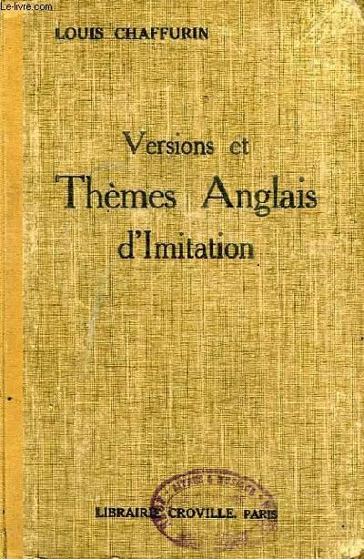 VERSIONS ET THEMES ANGLAIS D'IMITATION