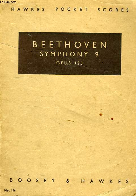 BEETHOVEN SYMPHONY 9, D MINOR, RE MINOR, OP. 125